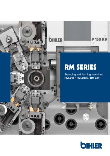 Brochure cam-controlled multi-slide machines RM series
