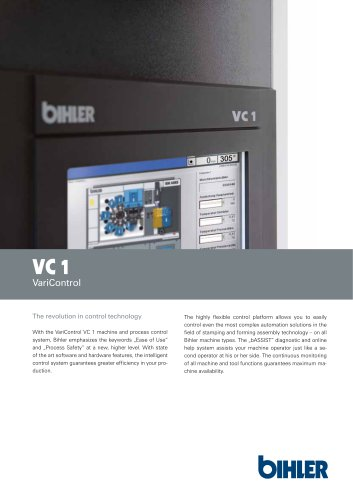 Flyer Bihler control system VariControl VC 1