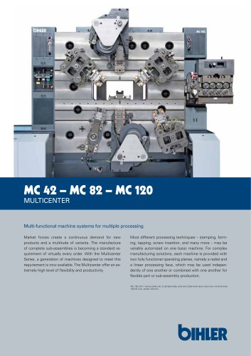 Flyer Cam-controlled multi-slide machine Multicenter MC