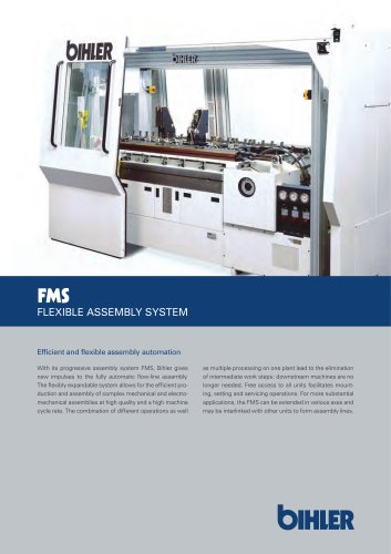 FMS FLEXIBLE ASSEMBLY SYSTEM