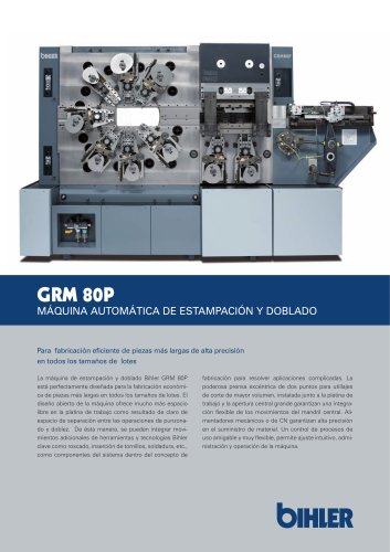 GRM 80P AUTOMATIC PUNCHING AND BENDING MACHINE
