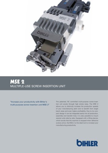 MSE 2 MULTIPLE-USE SCREW INSERTION UNIT
