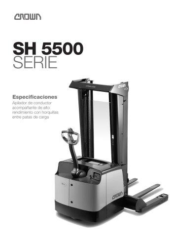 Apilador con horquillas entre patas SH 5500