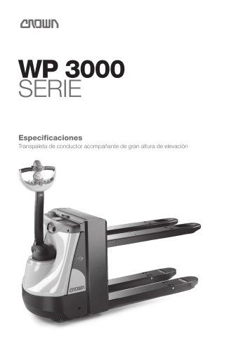 Transpaleta eléctrica de gran elevación WP 3080