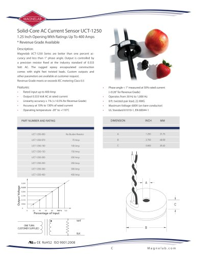UCT-1250 Solid-Core Current Transformer