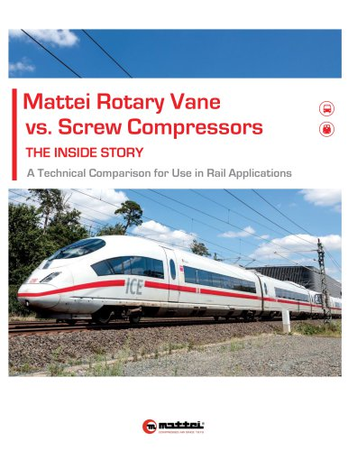 Mattei Rotary Vane vs. Screw Compressors