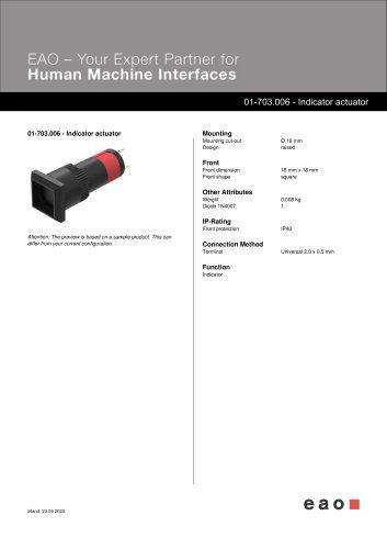 01-703.006 - Indicator actuator