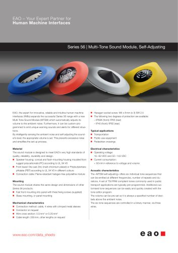 Series 56 - Multi-Tone Sound Module, Self-Adjusting