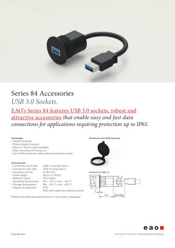 Series 84. USB 3.0 Sockets.