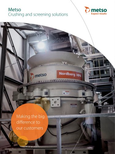 Crushing and Screening Solutions Catalogue