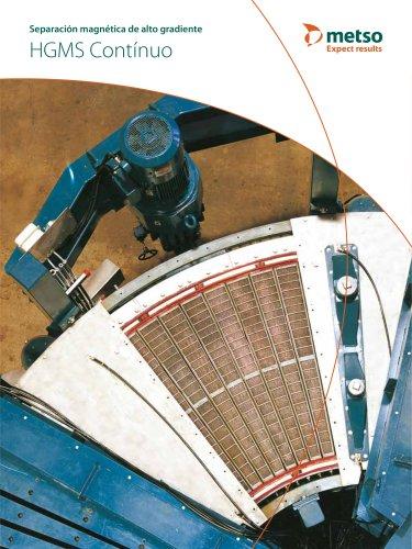 Separación magnética de alto gradiente HGMS Contínuo