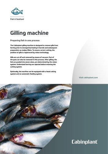 Gilling machine