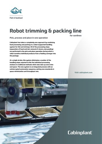 Robot trimming & packing line for sardines