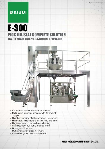 E-300 Pick Fill Seal Leaflet with Weigher and Z-Bucket Elevator