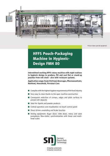 FMH 80 - HFFS Pouch-Packaging Machine in HygienicDesign