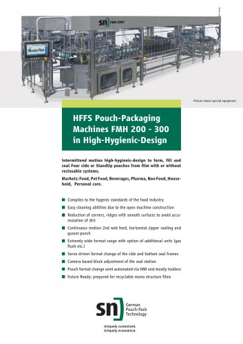 HFFS Pouch-Packaging Machines FMH 200 - FMH 300 in High-Hygienic-Design