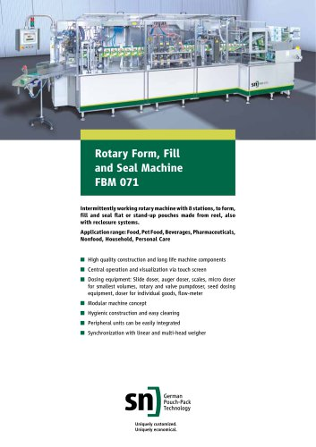 Rotary Form, Fill and Seal Machine FBM 071