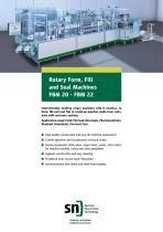 Rotary Form, Fill and Seal Machines FBM 20 - FBM 22