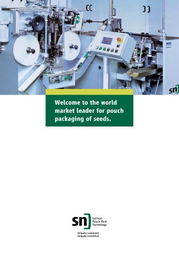 Welcome to the world market leader for pouch packaging of seeds.