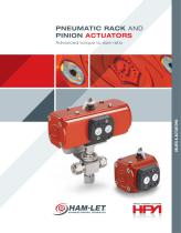 HPA Pneumatic Rack & Pinion Actuators